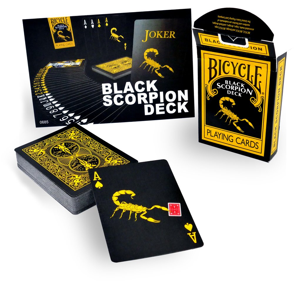 United States Playing Card Company - Jeu Carte llusionnisme Magie - Black Scorpion Deck - Bicycle Playing Cards product image