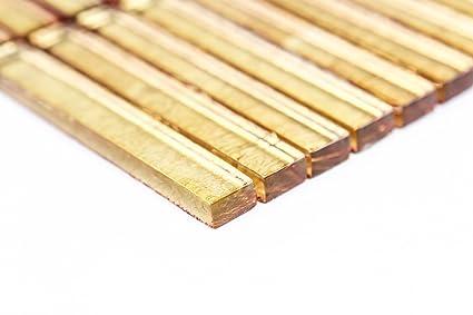 Piastrelle mosaico vetro oro metallizzato lucido bagno cucina mm