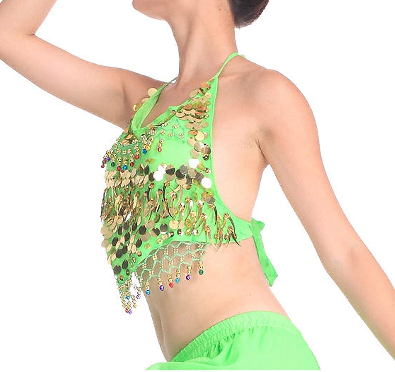 veni Masee danza del ventre Oro Paillettes Reggiseno con Imbottitura danza del ventre costume /& Accessori prezzo//pezzi