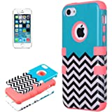 iPhone 5C Case, KEEDA® Hybrid High Impact Tribal Soft TPU + Hard PC Case Cover for iPhone 5C - Pink
