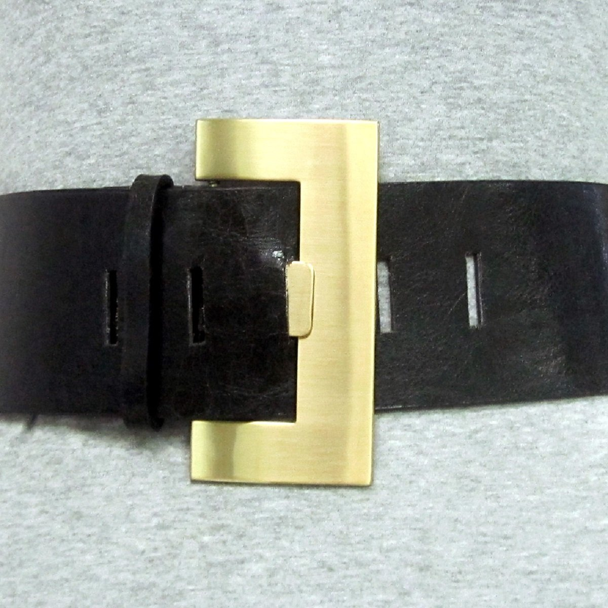 2 3//4 Womens Fashion Wide Buckle on Quality Patent Leatherette Belt Strap