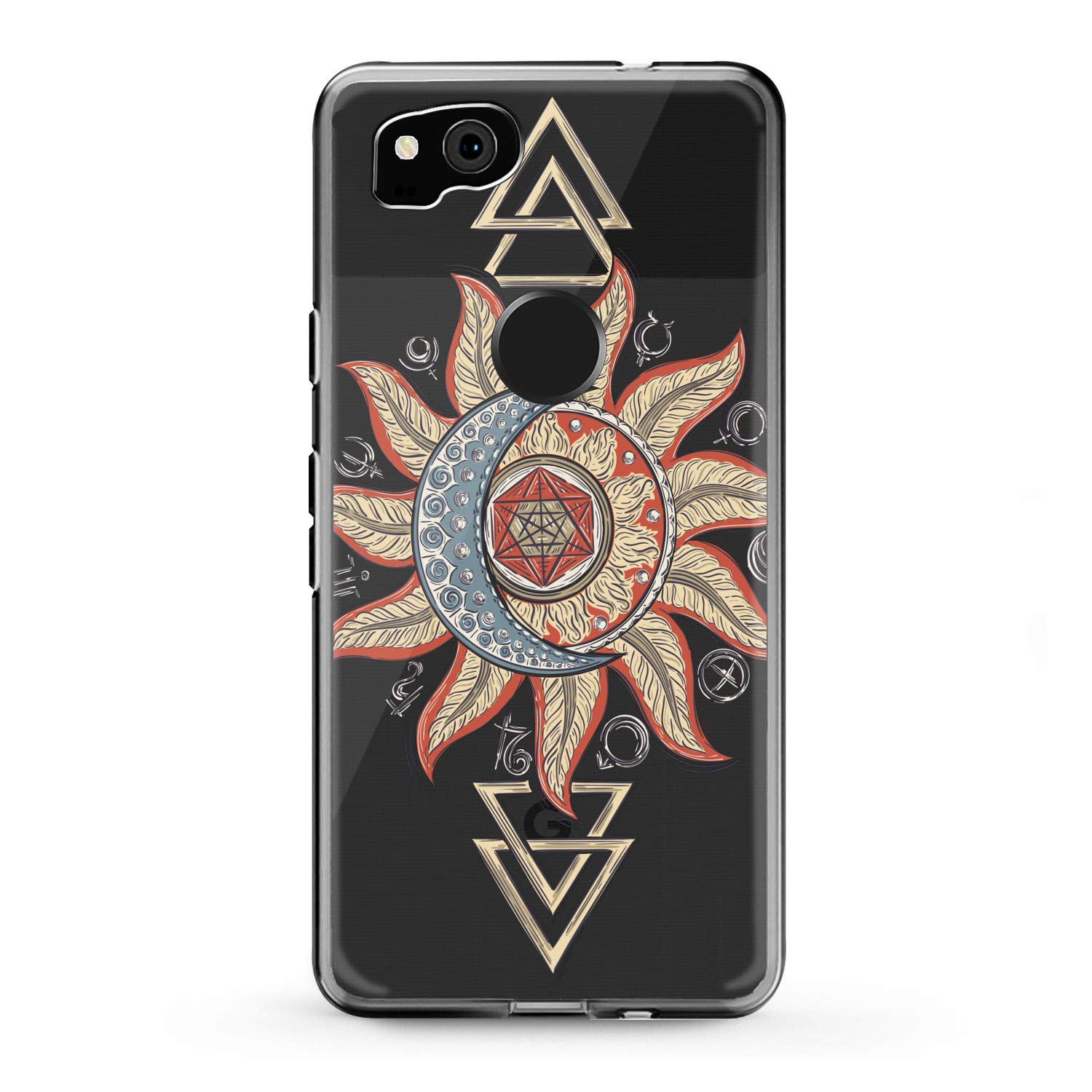 Lex Altern TPU Case for Google Pixel 3a 3 XL 2 inch 5 5.5 6 2019 Mandala Clear Colorful Phone Bohemian Cover Soft Boho Silicone Flower Print Tribal Protective Totem Transparent Girly Women Gift