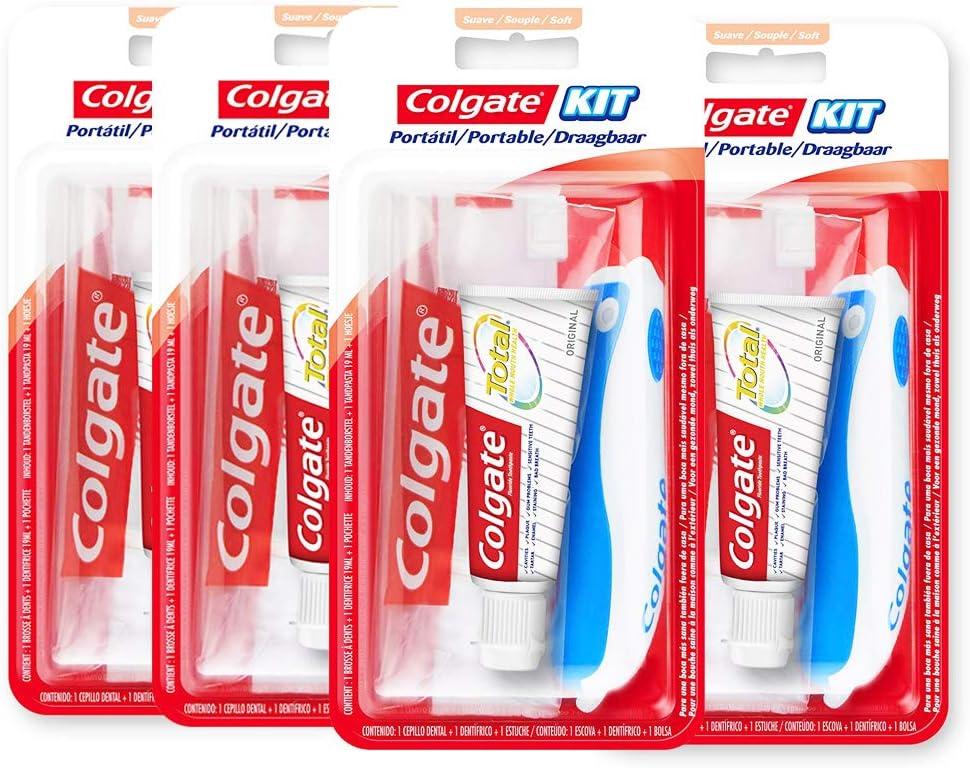 Colgate 278765 - Kit de viaje, 19 ml, colores surtidos, pack de 4 unidades