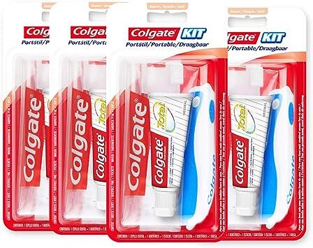 Colgate 278765 - Kit de viaje, 19 ml, colores surtidos, pack de 4 unidades: Amazon.es: Salud y cuidado personal