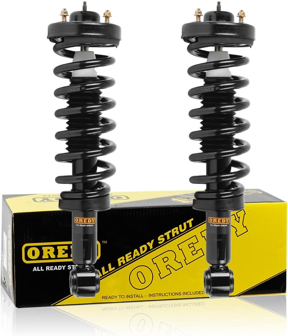 OREDY Rear Left and Right Pair Shock Absorber 349108 Shocks Struts Kit Compatible with Ford F150 RWD 2015 2016 2017 2018 2019//Ford F150 4WD 2009 2010 2011 2012 2013 2014