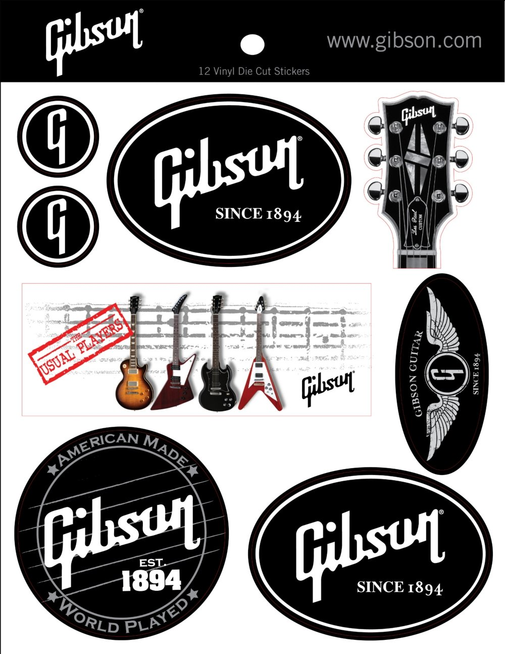 Logo stickers black amazon fr instruments de musique