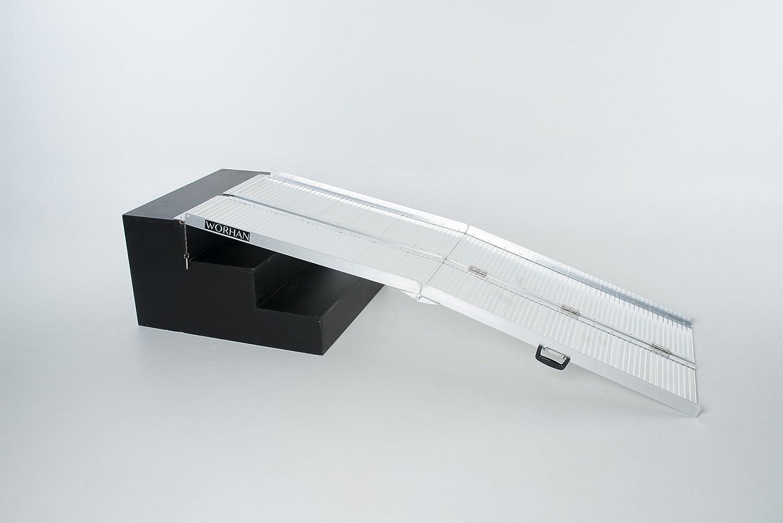 WORHAN® 2.15m Rampa Plegable Carga Silla de Ruedas Discapacitado Movilidad Aluminio Anodizado 215cm R7: Amazon.es: Bricolaje y herramientas