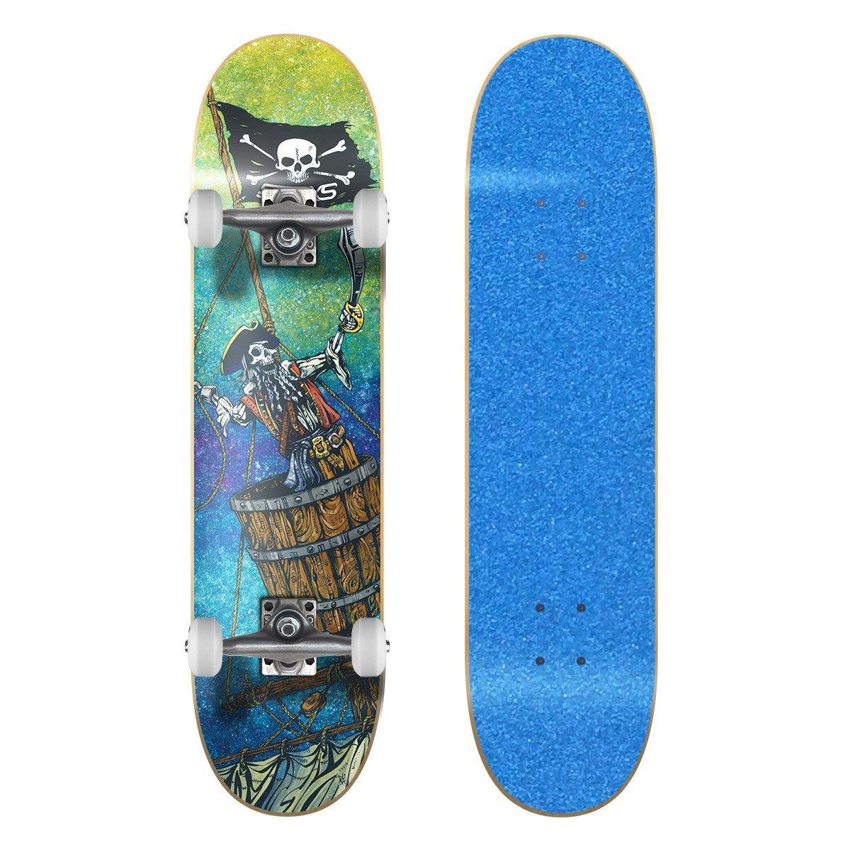 【爆売り!】 SkateXS ビギナー 海賊 ストリート スケートボード Blue B01MXUBNF9/ 7.0 x Wheels 28 (Ages 5-7)|Blue Grip Tape/ White Wheels Blue Grip Tape/ White Wheels 7.0 x 28 (Ages 5-7), アサミナミク:15d32315 --- a0267596.xsph.ru