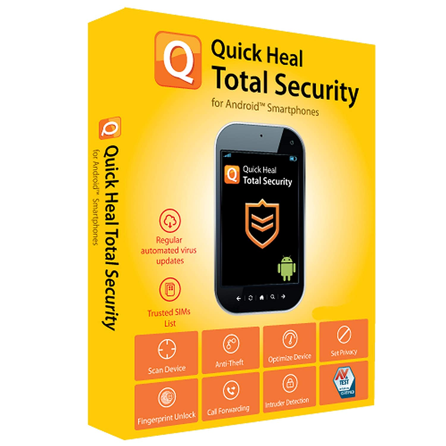Quick Heal Technologies Ltd  Total Security for Android 1 Pc/3 Years  (Activation Key Card)