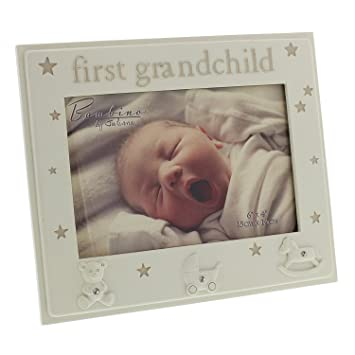 Amazon.com : Oaktree Gifts First Grandchild Resin Photo Frame 6 x 4 ...