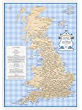 ST&G's Slightly Overcooked Map of Tasty British Place Names - A3 (420 x 297mm)
