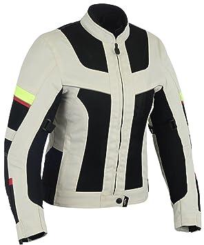 Chaqueta tricapa perforada de verano para moto (Mujer) (XS): Amazon.es: Coche y moto