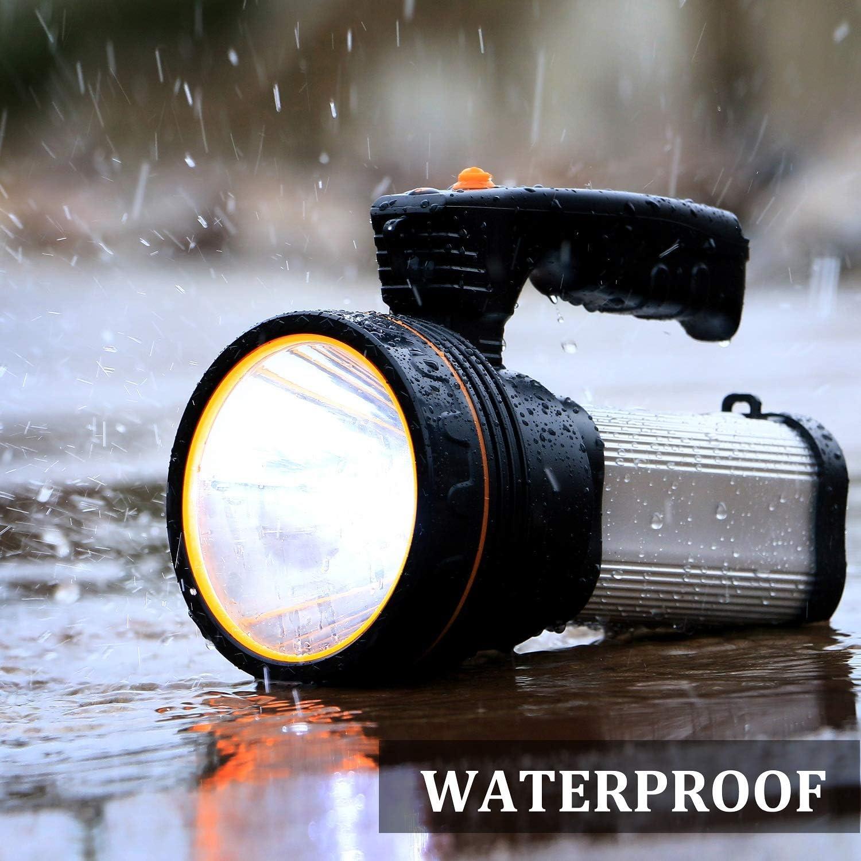 Plata ALFLASH Linternas LED de alta potencia Linternas recargables para acampar 7000 l/úmenes Linterna t/áctica Impermeable Foco super brillante Reflector port/átil