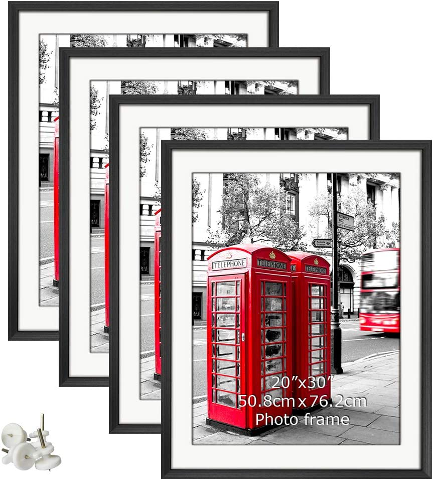 Shop 24x36 Poster Frames Matted to Display (4 pack) from Amazon on Openhaus