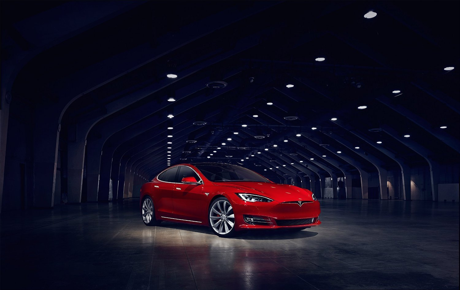 Tesla Model S P90D >> Tesla Model S P90d 2016 Car Print On 10 Mil Archival Satin Paper Red Front Side Static View 18 X24
