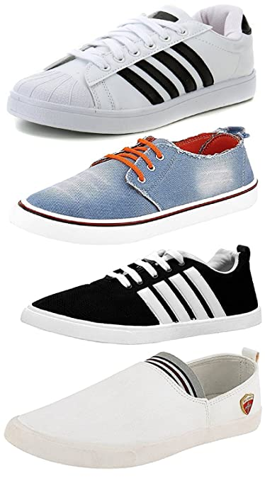 f2d8393dd99 Maddy Men s Mesh Sneakers - Pack of 4  Buy Online at Low Prices in ...