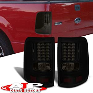 AJP Distributors Body Replacement Rear LED Tail Lights Lamps Left Right Driver Passenger Set Pair Replacement LED Black Housing Smoked For Ford F-150 F150 Styleside 2004 2005 2006 2007 2008