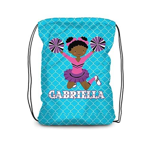 ba210ceb1845 Amazon.com: Cheerleader Drawstring Backpack - Blue Cheer Leader ...