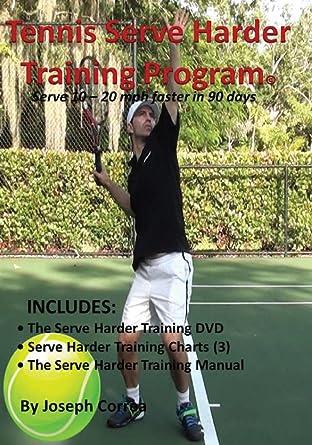 Serve 10 to 20 mph faster! Tennis Serve Harder Training Program Manual by Joseph Correa