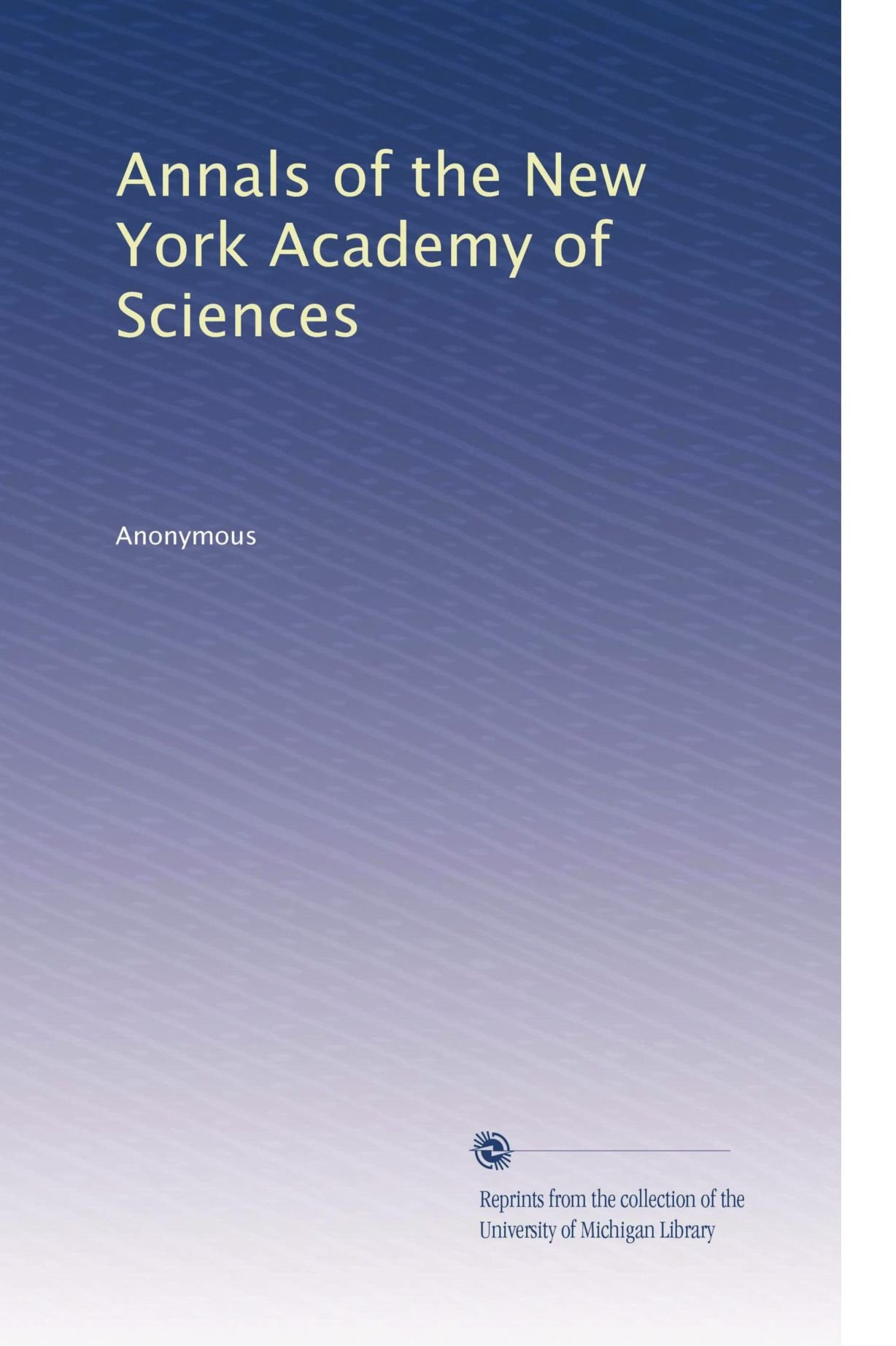 Download Annals of the New York Academy of Sciences (Volume 26) PDF