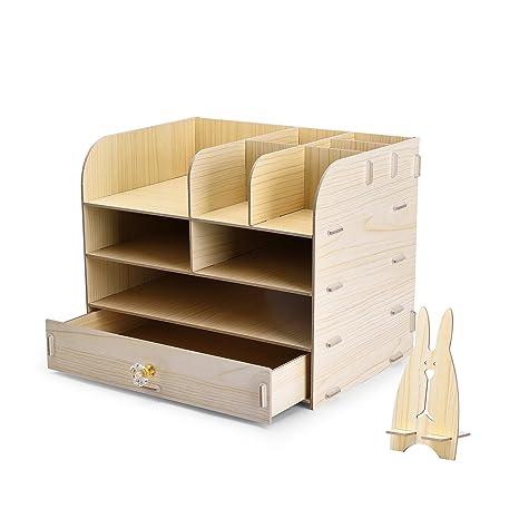 Lovely WEBO Wood File Storage Box Holder Wood Files Supplies Office Supply  Organizer DIY Wooden Detachable Desktop