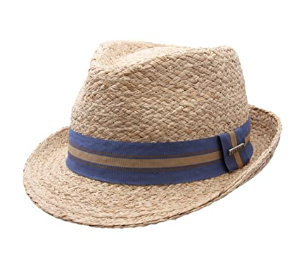 Stetson Mandalo Raffia Trilby Hat Size L at Amazon Men s Clothing store  d4303887307