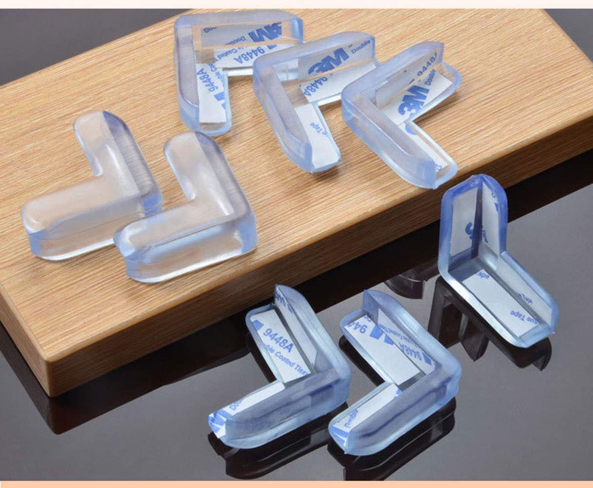 protectores de esquina de PVC Accod Protectores de esquina de seguridad para mesa con adhesivo 3M para beb/és y ni/ños paquete de 12 Talla:Round suave y transparente