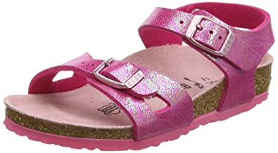 Birkenstock Girls' Rio Rear Flange, Pink (Reflections Raspberry), 1 UK