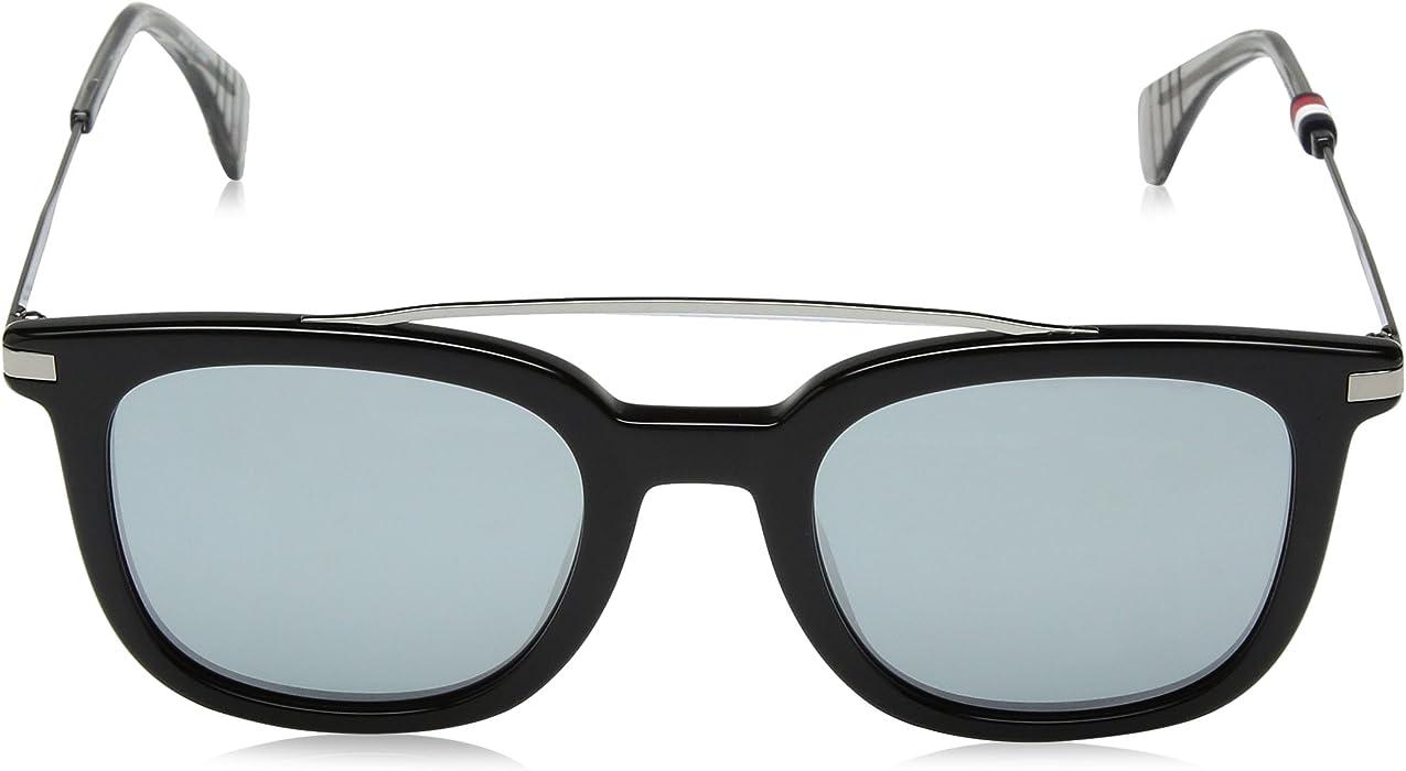 46ce5df917 Amazon.com  Tommy Hilfiger Women s Th 1515 s Square Sunglasses Black ...