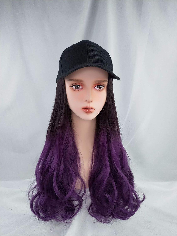 DER Wig Sombrero Todo-en-uno Full-Dye Gradient Wig Black Brown ...