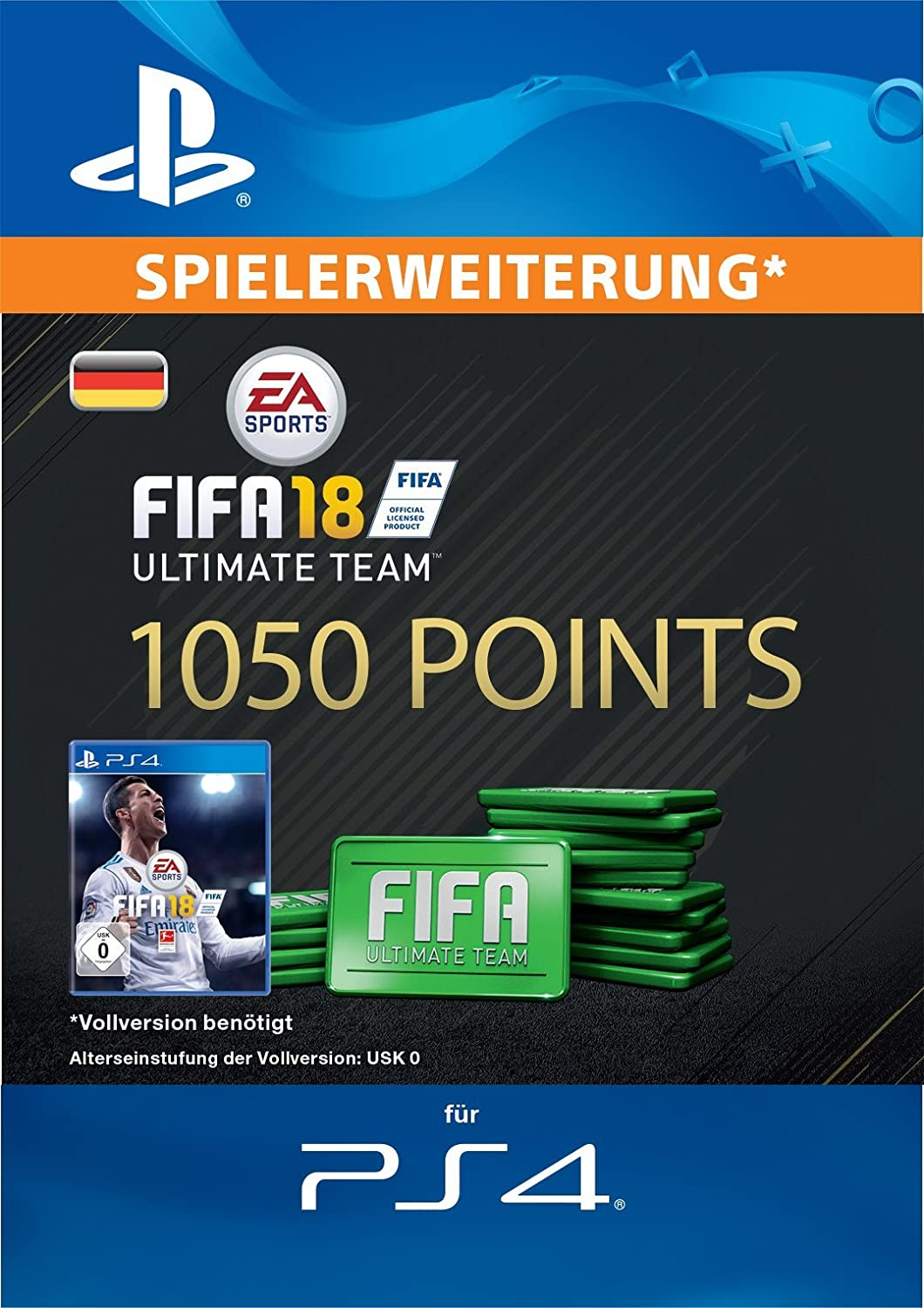 Fifa 18 Ultimate Team 1050 Fifa Points Ps4 Download Code