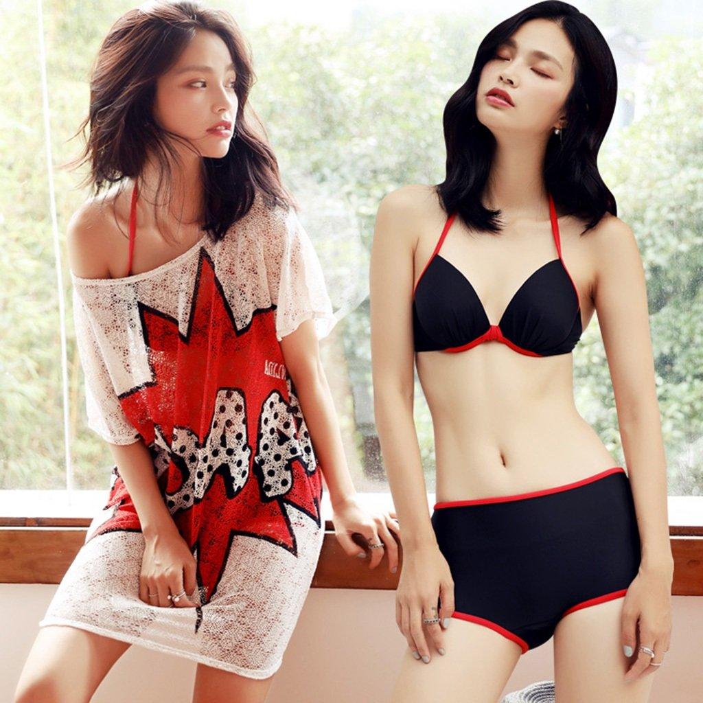 Drei Sätze von Split Schwimmer Bikini Kleid Sexy Kleine Truhe Bronze Pole Poly Gas Konservativen flachen Winkel Hot Spring Schwimmen weiblich