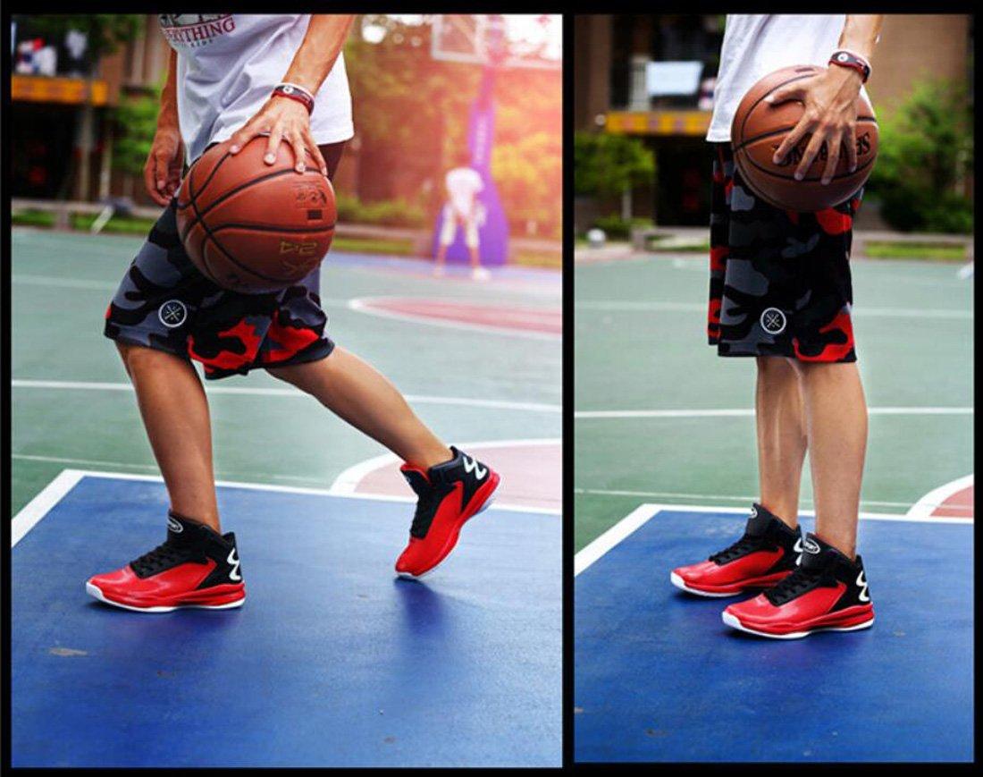 DANDANJIE Scarpe da pallacanestro da uomo Scarpe Scarpe Scarpe da ginnastica alte con cinturino alla caviglia Scarpe da corsa sportive 39-46 (colore   Rosso, Dimensione   43) 5c3ab5