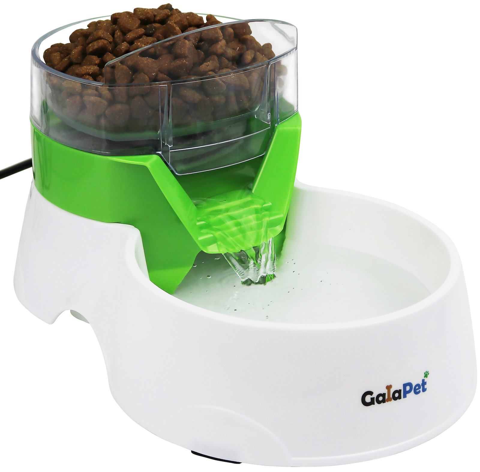 GalaPet Pet Water Fountain and Feeder for Cat and Dog