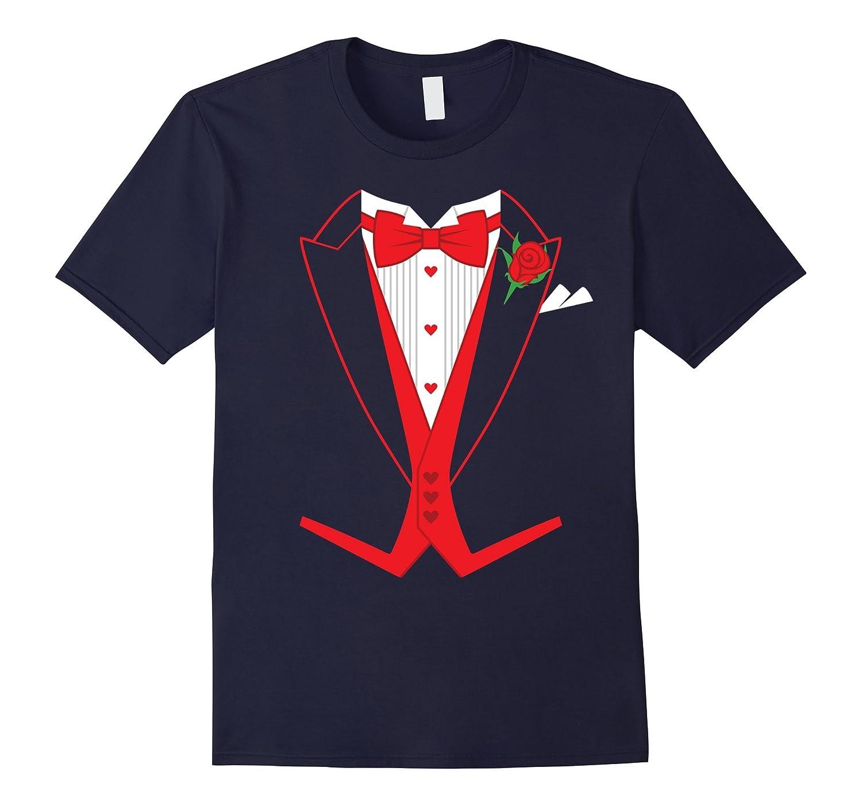 Valentine's Day Costume Red Bow Tie Tailcoat Tuxedo T-Shirt-Art