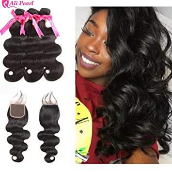 Hair Extensions & Wigs Deep Wave Bundles With 5x5 Closure Brazilian Human Hair 3 Bundles With Closure Free Part Remy Hair Extensions Alipearl Hair