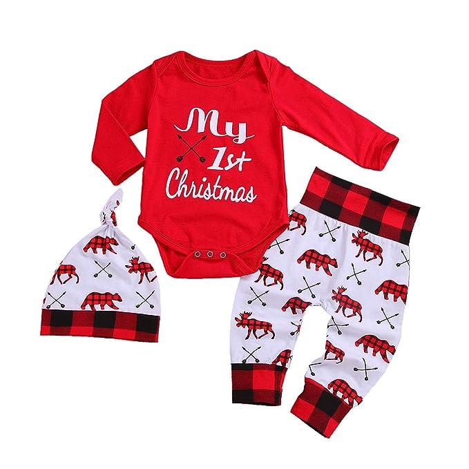 Amazon.com: Dofel Trajes de Navidad Bebé Niños My 1st ...