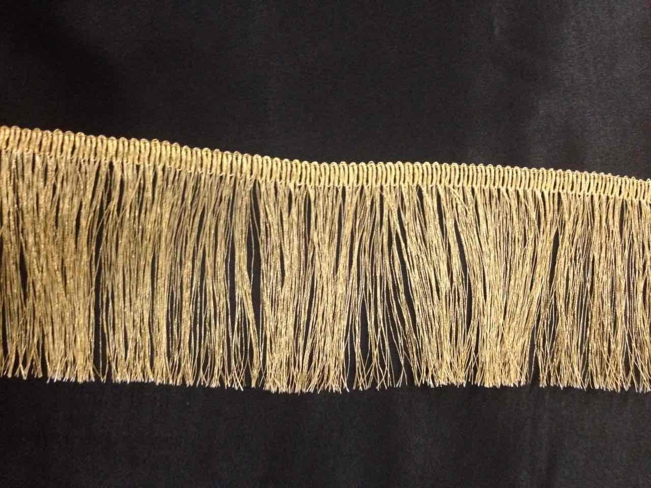 Gold lurex Metallic Fringe Dress bordo 6,3cm, artigianato, fashion, 0,9m Mctrimmings