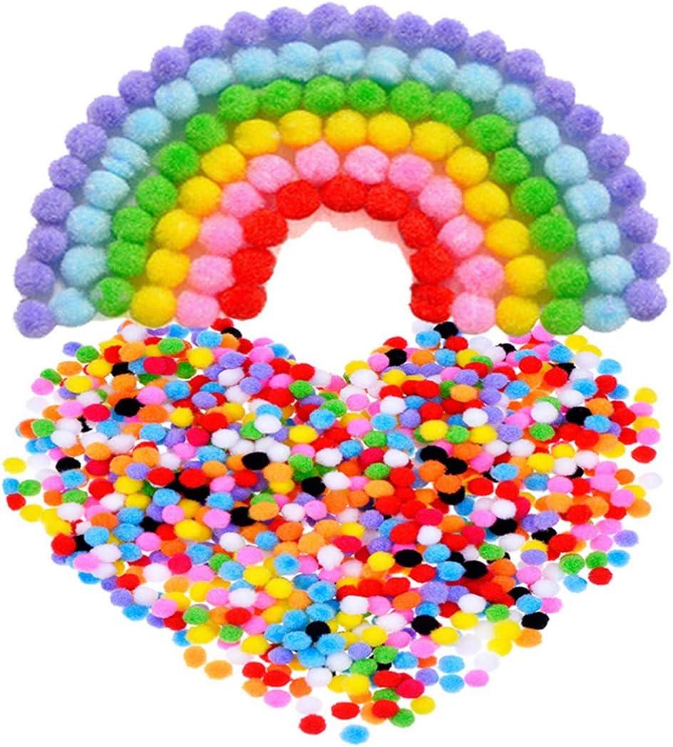 couleurs m/élang/ées Doitool Lot de 1200 pompons de 10 mm pour loisirs cr/éatifs et loisirs cr/éatifs