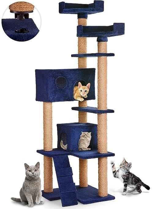 Leopet – Árbol rascador para gatos con cuevas, plataformas y escalera – altura aprox.