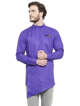 9e5a5d92de Waltz Men Rich Cotton Blend Short Designer Kurta  Amazon.in  Clothing    Accessories