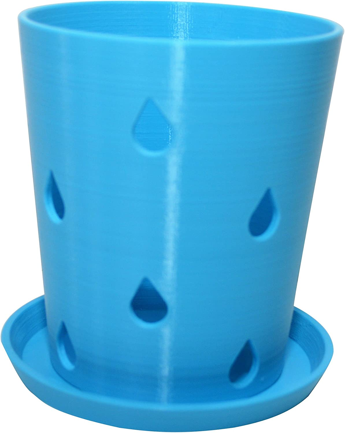 HD PRINTABLES Orchid Pot and Tray, Turquoise, 5.5 L