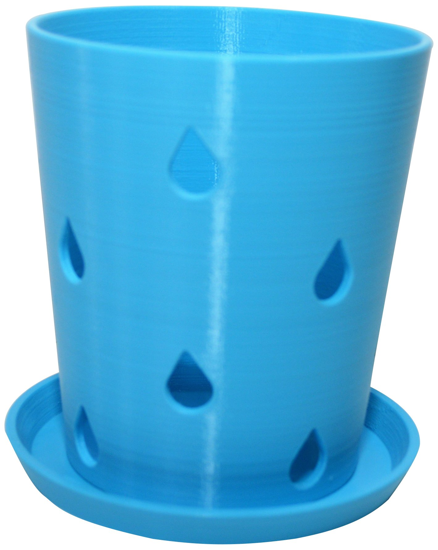HD PRINTABLES Orchid Pot and Tray, Turquoise, 5.5'' L