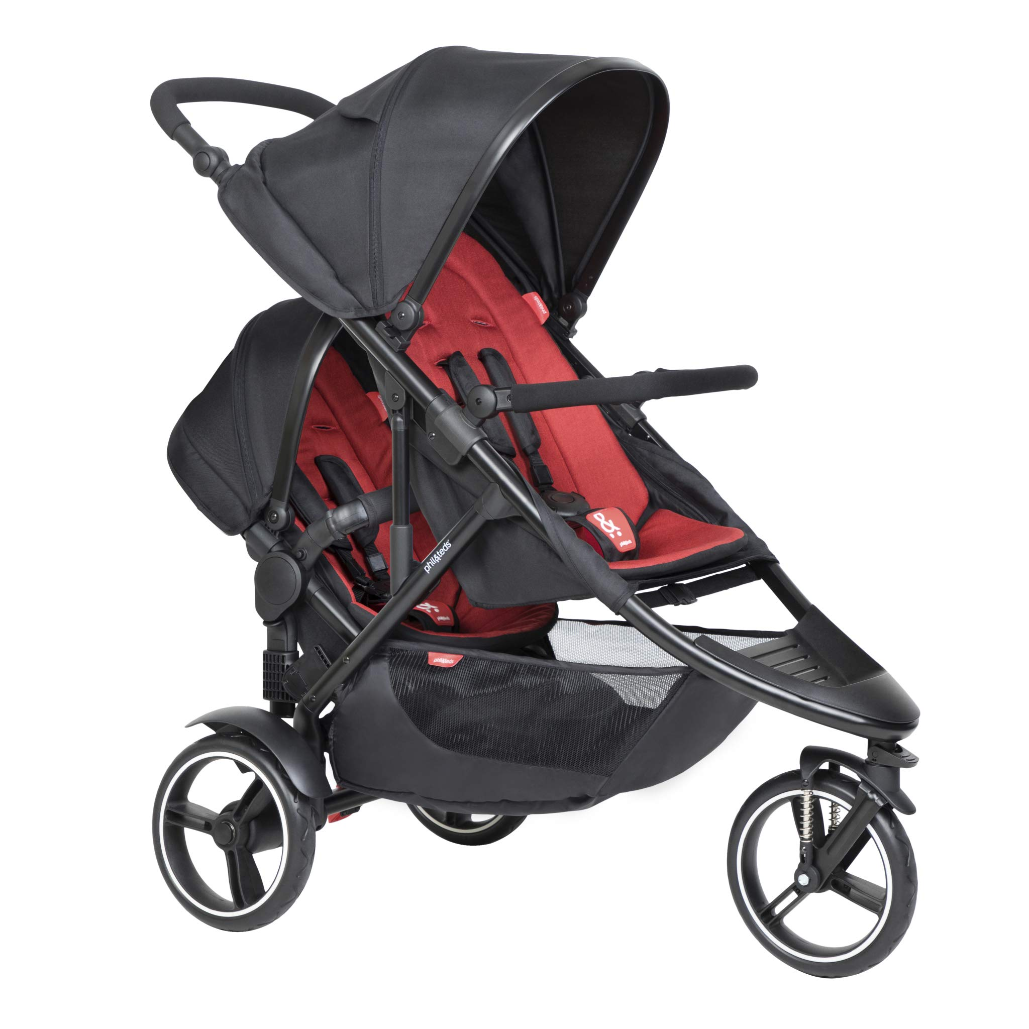Phil & Teds 2019 Dot Buggy with Doubles Kit (Chilli) by phil&teds
