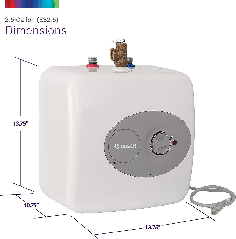 bracket included Bosch T 2.7-Gallon Electric Mini-Tank Under Sink Water Heater
