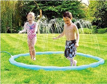 Kids Garden Salpicadura Splash Juego Mat Azul Agua Spray Juguete niños bebé Piscina Pad Verano diversión Playa al Aire Libre Juguete para niños: Amazon.es: Deportes y aire libre
