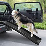 """COZIWOW 62""""L Heavy Duty Portable Folding Dog Ramps for Large Dogs SUV, Truck Car Ramp Stairs Step Ladder for Pet, Non…"""