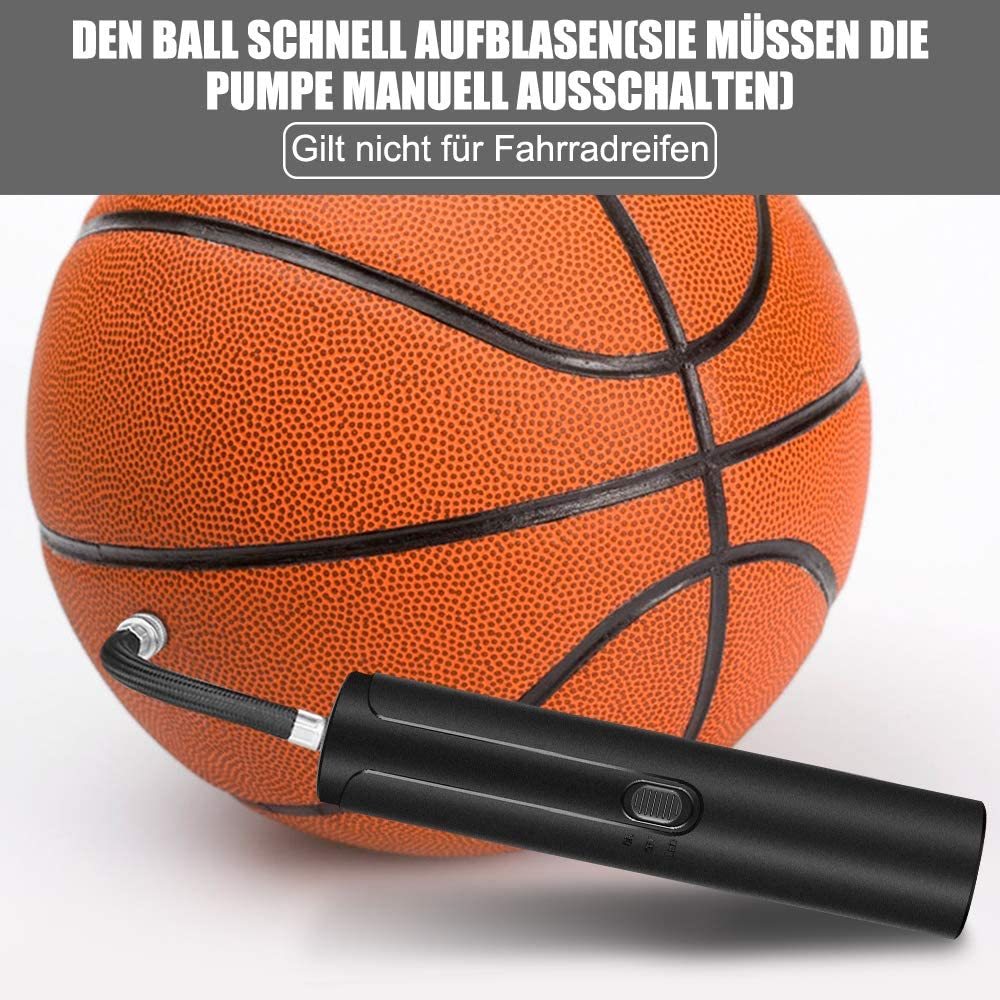 Zacro Luftpumpe Elektrische Ballpumpe Volleyball Basketball ABS Material Langlebig,mit 7 Ballnadeln Handpumpe zum Schnellen Aufpumpen von Fu/ßball Rugby usw