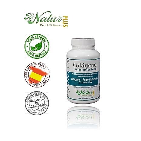 BeNatur - Plus Colágeno y Ácido Hialurónico - 120 Comprimidos - Ayuda para Deportistas, Mejora