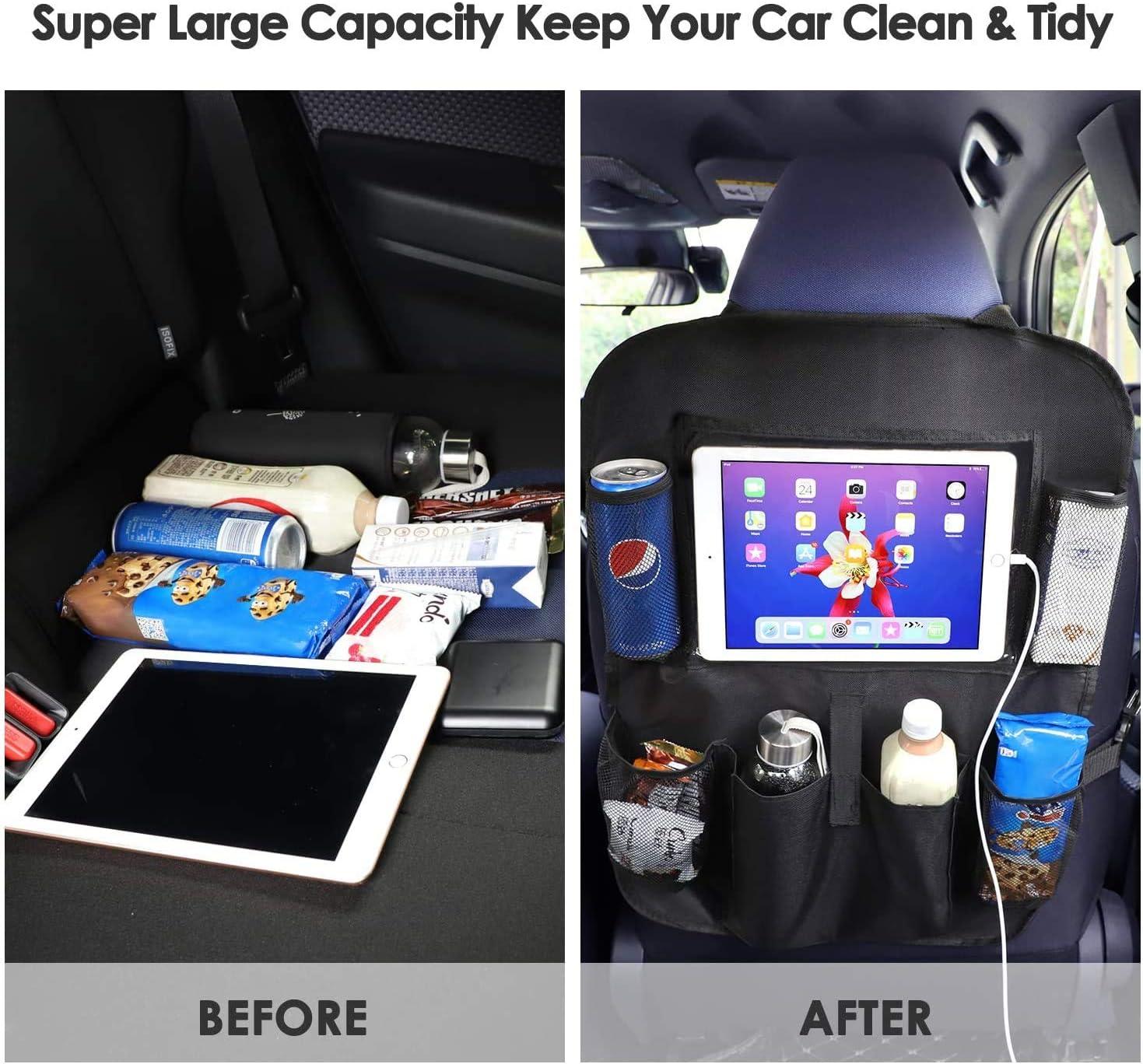 Almacenamiento de Juguetes Organizadores para Asientos de Coches Accesorios de Viaje para Ni/ños Libros Bebidas RIGHTWELL 2 Pack Protector Asiento Coche Ni/ños con Sorporte iPad 10